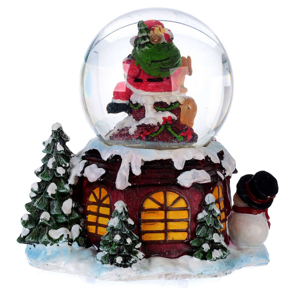 images of christmas snow globes